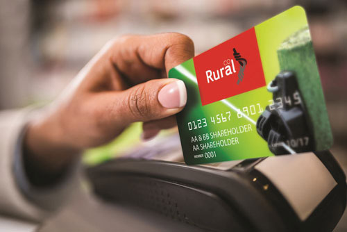 Ruralco card getting swiped